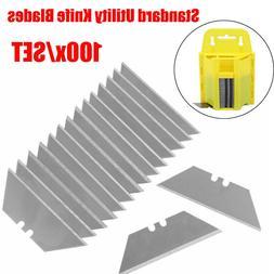 100Pcs Steel Standard Utility Knife Blades Cutter Razor Repl