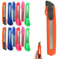 12 Retractable Utility Knife Box Cutter Snap Off Lock Razor