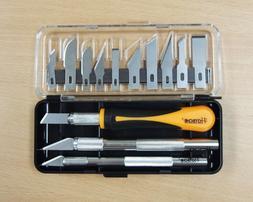 16PC Hobby Precision Craft Utility Knife Knives Kit