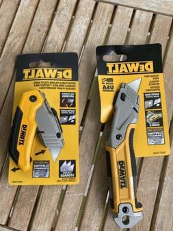 2 DeWalt Box Cutter  Folding Utility Knife Retractable Plus