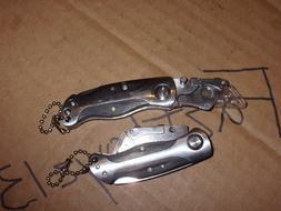 2x Craftsman MINI Folding Lock Back Utility Knife with Black