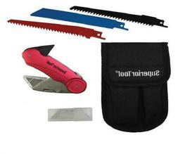 Superior Tool 37519 Plumbers Knife Kit Combination Multi-Too
