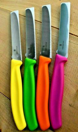 Victorinox 4-Piece Colorful UTILITY / PARING KNIFE Set 4 1/2