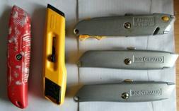 4 STANLEY & 1 CRAFTSMAN box cutter razor blade holder utilit