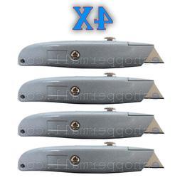 4X Heavy Duty Box Utility Cutter Knife Blade Retractable Raz