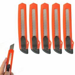 5 Retractable Utility Knife Box Cutter Snap Off Lock Razor B
