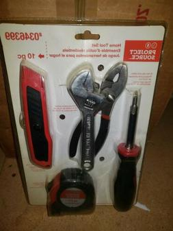 Project Source 5 Piece Home Tool Set. Tape Measure, Utility