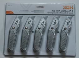 HDX 5 Piece Utility Knife Set 701-577 New Sealed