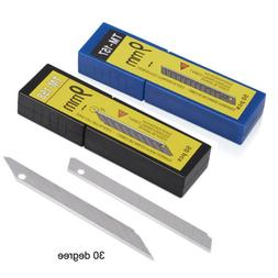 50 Pcs 9MM Acute Carbon Steel Utility Knife Blade Snap-off f