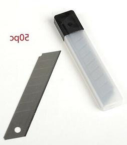 50pc Snap-Off 18mm Cutter Utility Knife Replacement Blades R