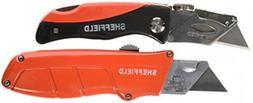 Sheffield 58810 2-Piece Lockback Utility Knife Set