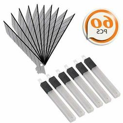 60 Pcs Snap Off 9mm Utility Knife Blades 30 Degree for OLFA
