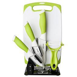 84063 white ceramic knife set