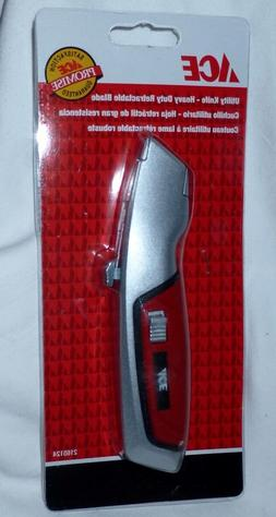 ACE HEAVY DUTY QUICK CHANGE RETRACTABLE BLADE UTILITY KNIFE,