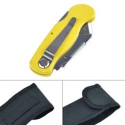 Folding Lock Back Utility Knife Blade Quick Change Plastic H