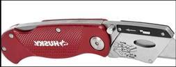 HUSKY Folding Utility Knife Razor Blade Folding Pocket Belt
