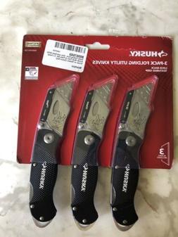 Husky Folding Lock-Back Utility Knife  Convenience and Safet