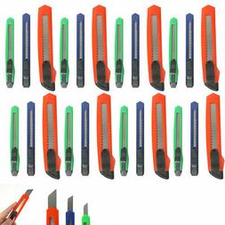 Lot Of 24 Retractable Utility Knife Box Cutter Snap Off Razo