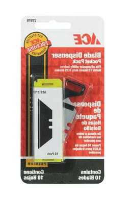NEW! ACE Pocket Pack Utility Knife Blade Dispenser 10-Pack 2