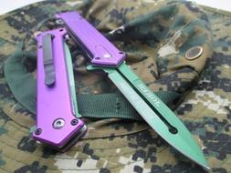 """TAC-FORCE Assisted Opening Linerlock """"Why So Serious"""" Design"""