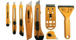 Utility Cutter Set Snap-Off Razor Knife Scraper Carton Box K