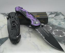 New Tac Force Assisted Opening Rescue Glass Breaker Purple F