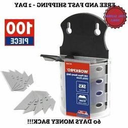 100 Pack Utility Knife  Blades Razor Dispenser Refills Retra