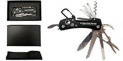 Black Swiss Style Army Pocket Knife By SingleEdge Knife - 14