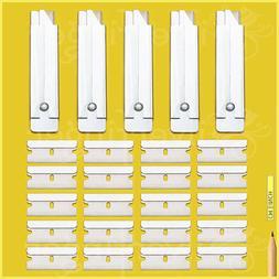 BOX CUTTER + REFILL SINGLE EDGE RAZOR BLADES — CARTON UTIL