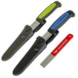 Morakniv Craft Knife and Sharpener Set, Includes Craftline P