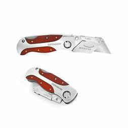 Box Cutter Utility Knife Folding Blade Razor With Hook Pocke
