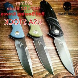 D2 Blade Ball Bearing Knives Folding Knife Survival Flipper