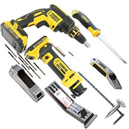 DeWalt CORDLESS Drywall Hanger's Tool Kit with 20V Screw Gun
