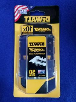 DEWALT DWHT11131L CARBIDE UTILITY KNIFE BLADES PACK OF 50