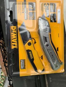 dwht82690gc folding and retractable utility knife set