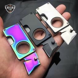 EDC MINI POCKET KNIFE + KEYCHAIN STUB SELF DEFENSE RAZOR BOX