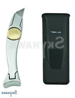 Ergonomic Quick Change Fixed Blade Utility Knife W/ Holster