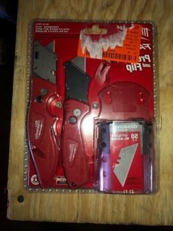Milwaukee Fastback Flip Utility Knife 2 Piece Set with Razor