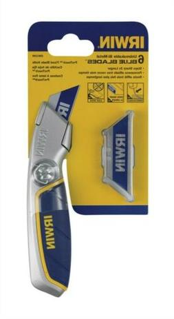 Irwin  8 in. Fixed Blade  Utility Knife  Blue  1 pc.