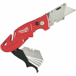 Flip Utility Knife with Blade Storage