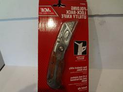 "Ace Folding Lock-Back Utility Knife 3-1/2 "" Stainless Steel"