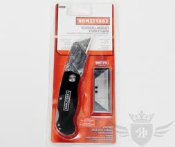 Craftsman Folding Lockback Utility Knife w/ Extra Blades - B