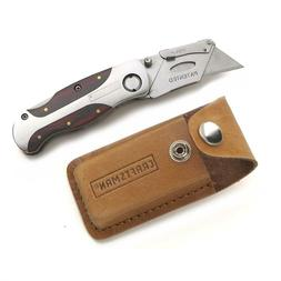 Craftsman 94845 Folding Lockback Utility Knife With Leather