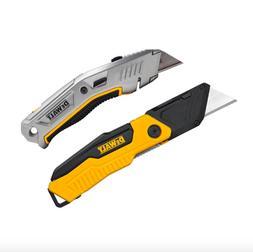 Dewalt Folding Retractable Utility Knife 2 Pack Box Cutter D