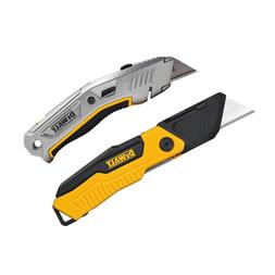 Folding Utility Knife and Retractable Utility Knife Set 2-Pi
