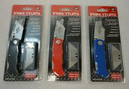 Folding Utility Knife Heavy Duty Aluminum Lock-Back Box Cutt
