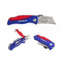 WORKPRO Folding Utility Knife Quick-change Box Cutter, Blade