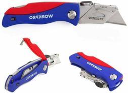 Folding Utility Knife Quick-change Box Cutter, Blade Storage