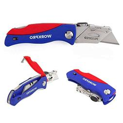Folding Utility Knife Quick Change Box Cutter Blade Storage