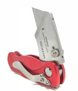 Folding Utility Pocket Knife Box Cutter With Lock blade RED